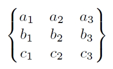 Latex Matrices
